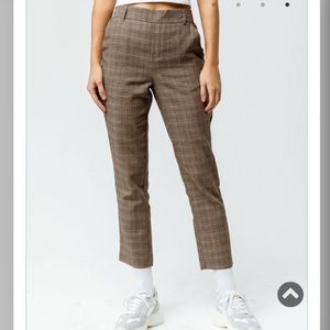 Plaid women's trouser pants NWT